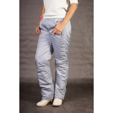 Утепленные женские брюки на поясе-резинке, цвет - серый