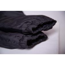 Зауженные женские брюки с манжетой, цвет- черный