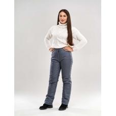 Утепленные женские брюки на поясе с завышенной талией, цвет - графит