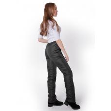 Утепленные флисом женские брюки на поясе с завышенной талией