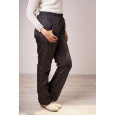 Утепленные женские брюки на флисе, пояс- резинка