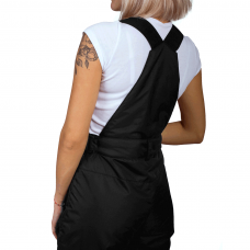 Полукомбинезон женский со съемными бретелями, цвет-черный