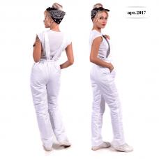 Полукомбинезон женский, утепленный синтепоном, цвет -белый