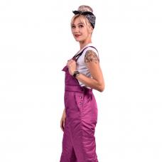 Полукомбинезон женский, утепленный синтепоном, цвет -брусника