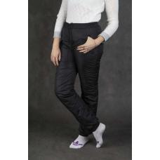 Утепленные женские брюки на манжете по щиколотке, цвет-черный