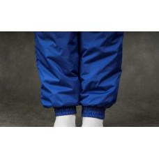 Утепленные женские брюки на манжете по щиколотке, цвет- синий