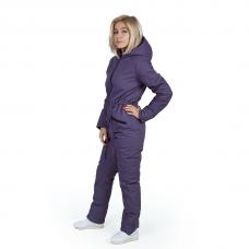 Зимний женский комбинезон, из мембранной ткани, цвет- сиреневый