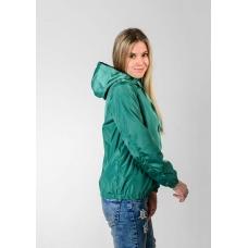 Женская  ветровка  с капюшоном,цвет- изумруд