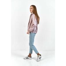 Женская  ветровка  с капюшоном,цвет-лиловый