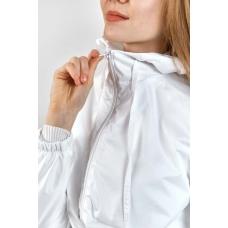 Женская  ветровка  с капюшоном,цвет- белый