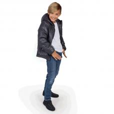 Куртка демисезонная подростковая, цвет-серый