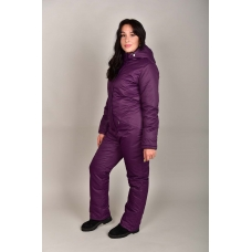 Зимний женский комбинезон, из мембранной ткани,  цвет- фиолетовый
